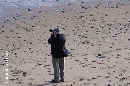 Man Taking Photo on Beach