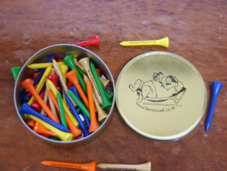 Golf Tees In A Tin